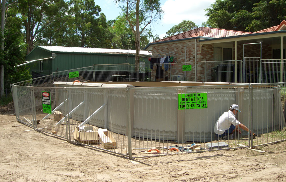 temporary pool fence, temporary pool fencing